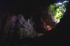 The entrance of Gua Cikaray