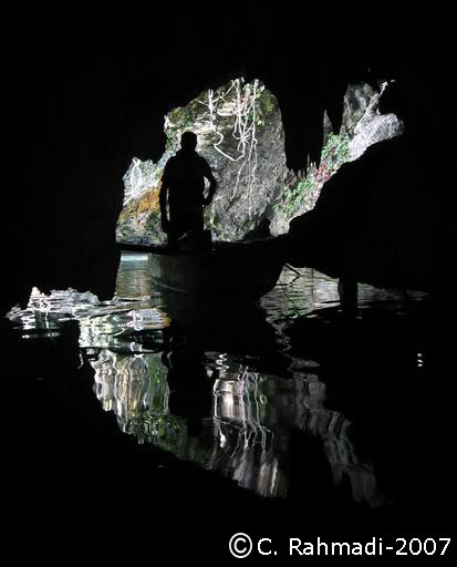 the boat and the caves