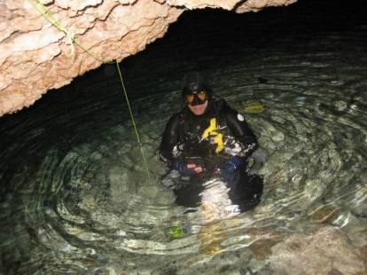 Cave diving in spring
