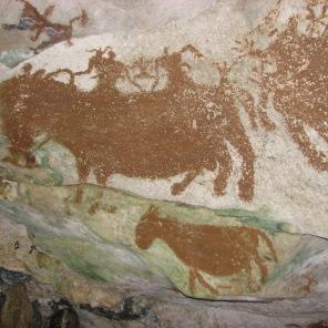 Lukisan purba yang ditemukan di salah satu gua di Muna